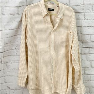 Orvis men's button up shirt XL Extra Large Linen